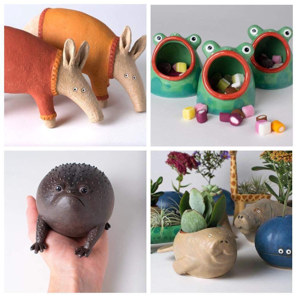 Глиняні фігурки тварин