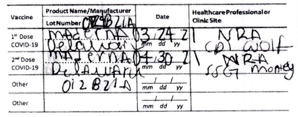 Сертифіка про вакцинацію з помилками