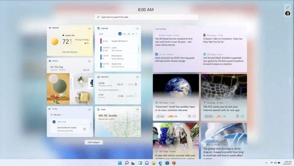 Віджети на Windows 11