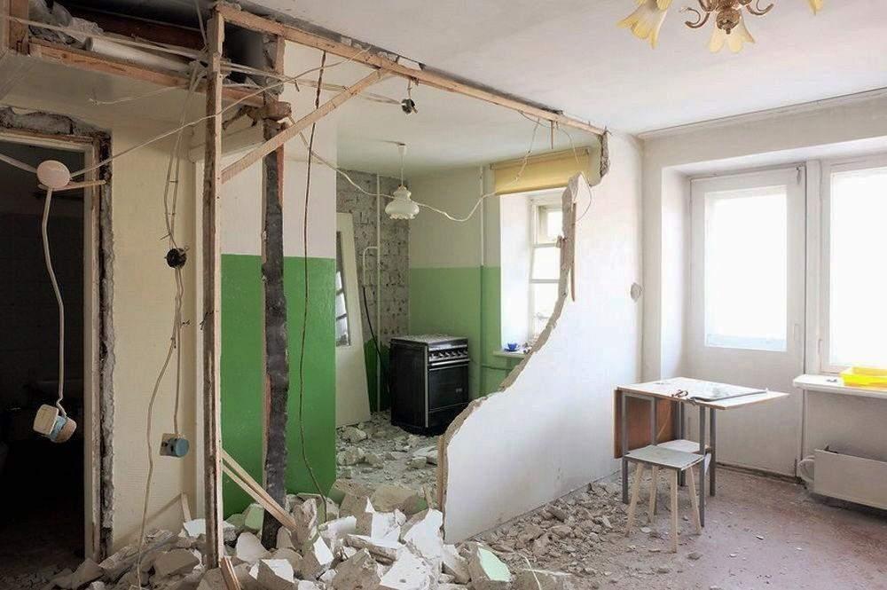 Зазвичай міжкімнатні стіни в хрущовках можна знести