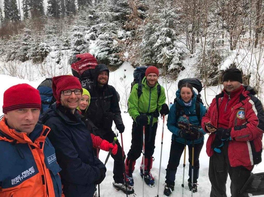 Туристи в горах