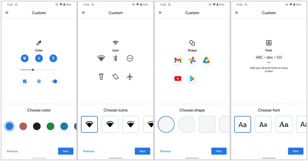 Налаштування значків і шрифтів в Android 11