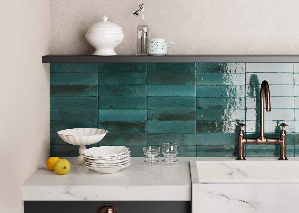Зелений фартух на кухні