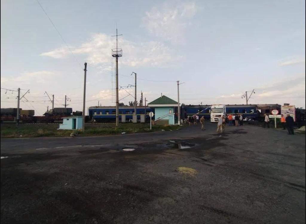 Місце аварії на Полтавщині