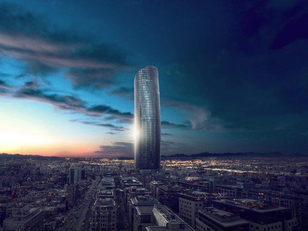 Вежа височіє над горизонтом в Аммані  / Фото The Skyscraper Center