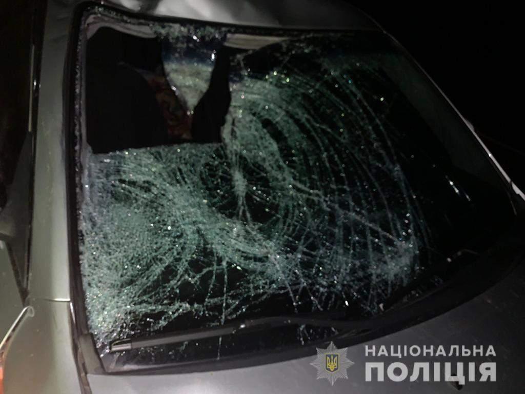 На Львівщині водій Kia на смерть збив чоловіка: фото