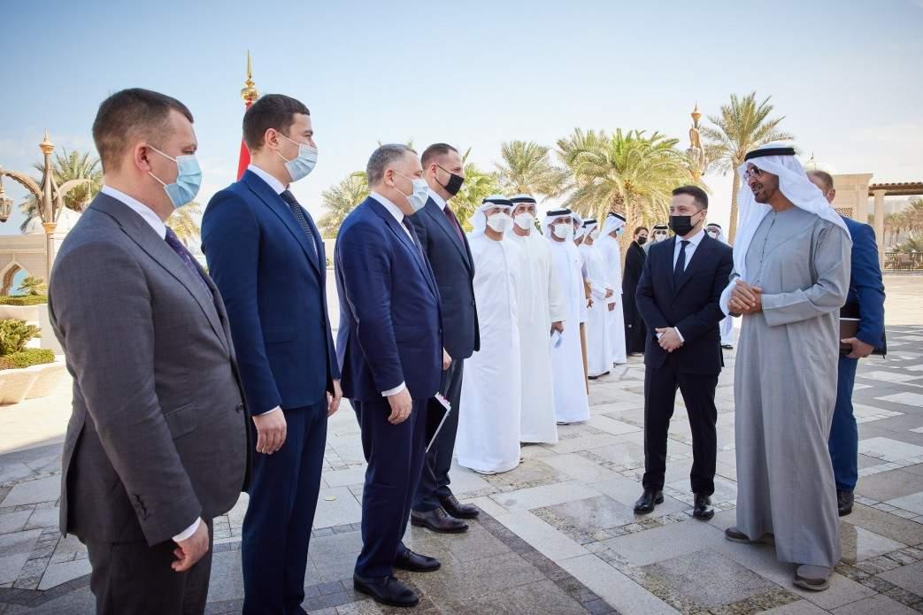 Зустріч Зеленського в ОАЕ