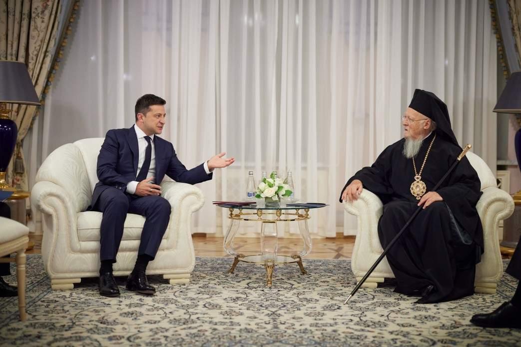 Президент Зеленський зустрівся зі Вселенським патріархом Варфоломієм