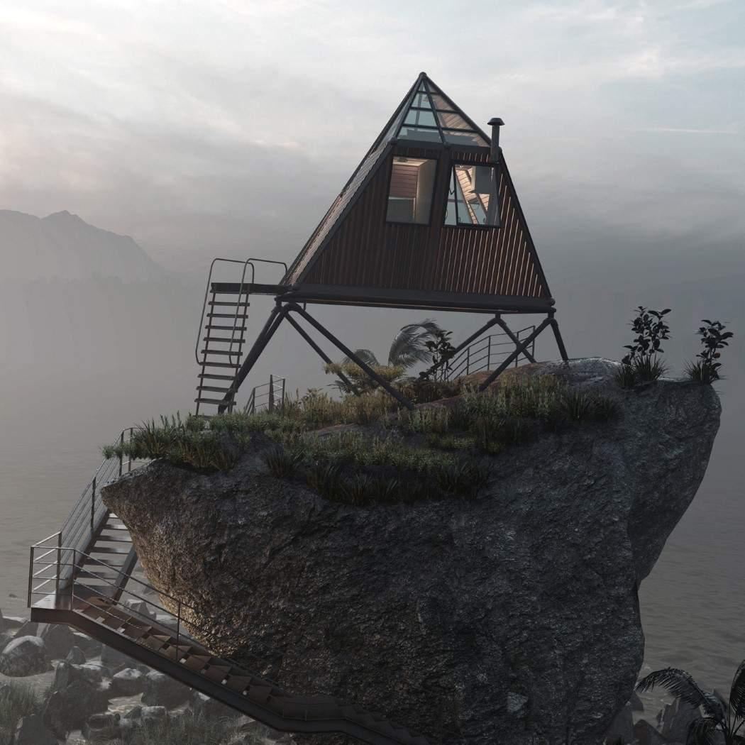Дім на гіганстському камені / Фото Designboom