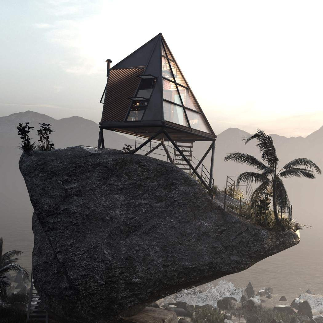 Унікальна форма хатинки  / Фото Designboom