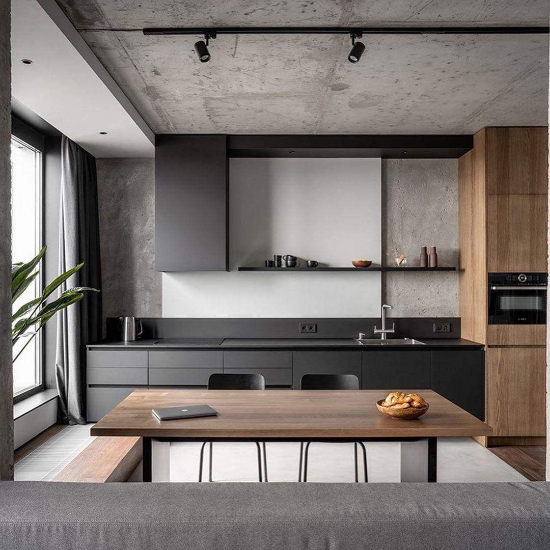 Фото сучасної лінійної кухні