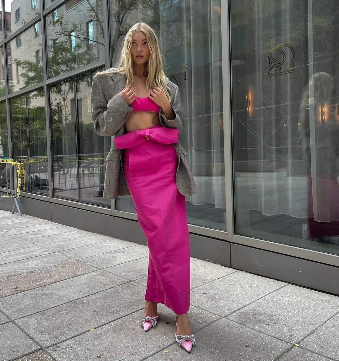 Стильний образ Ельзи Госк / Фото з інстаграму моделі
