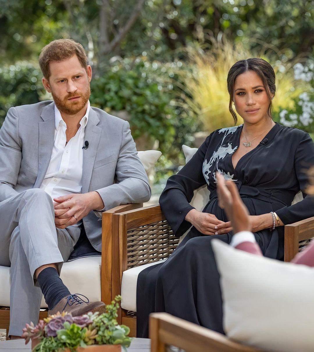 Меган Маркл і принц Гаррі на інтерв'ю