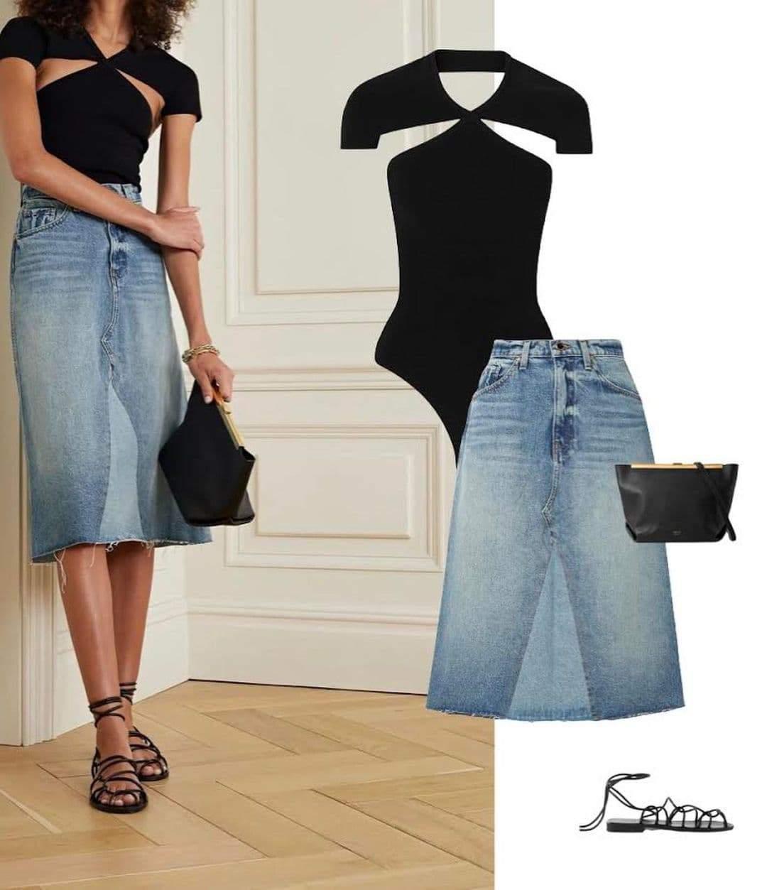 Стилізація джинсової спідниці