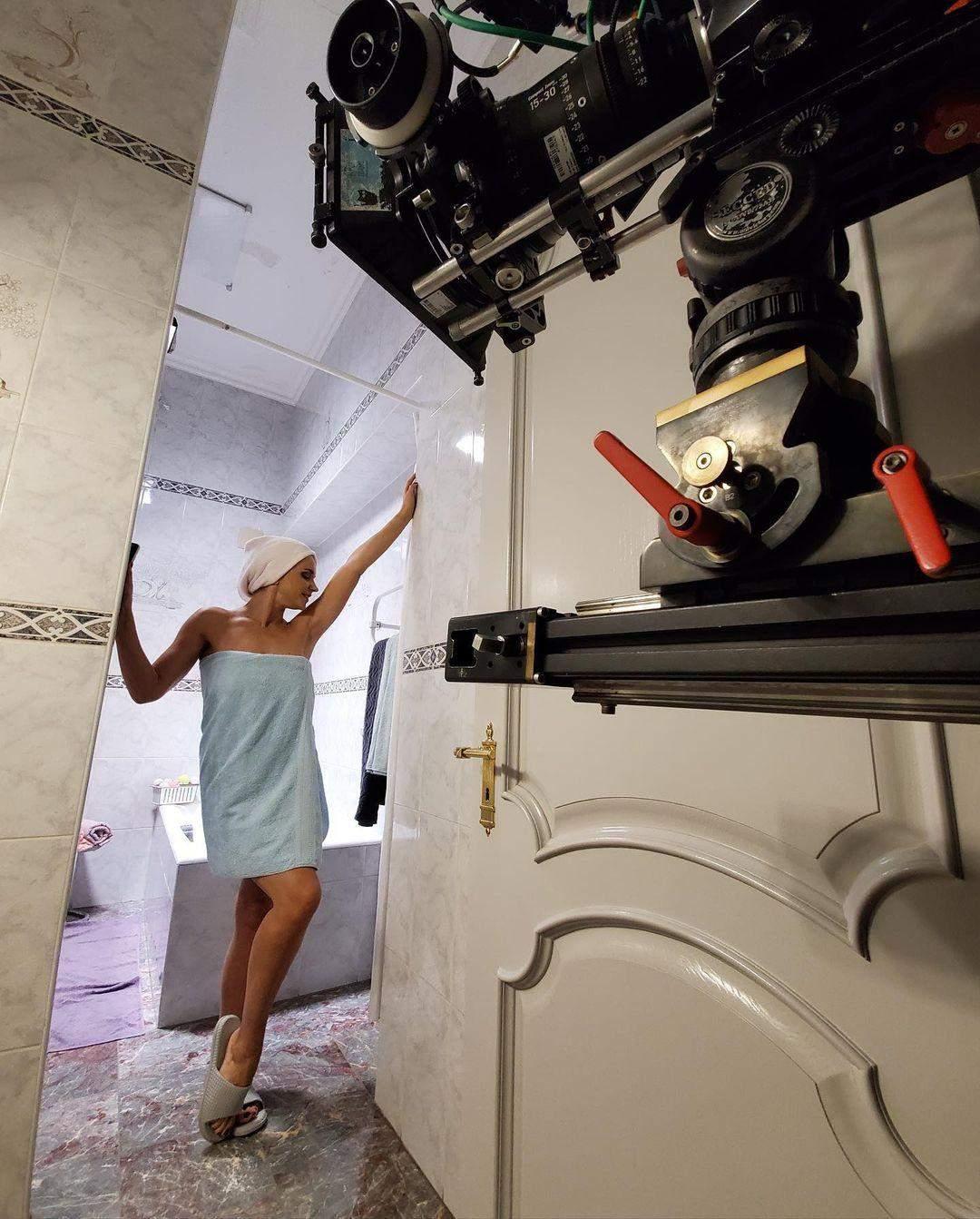 Лілія Ребрик на зйомках нового проєкту