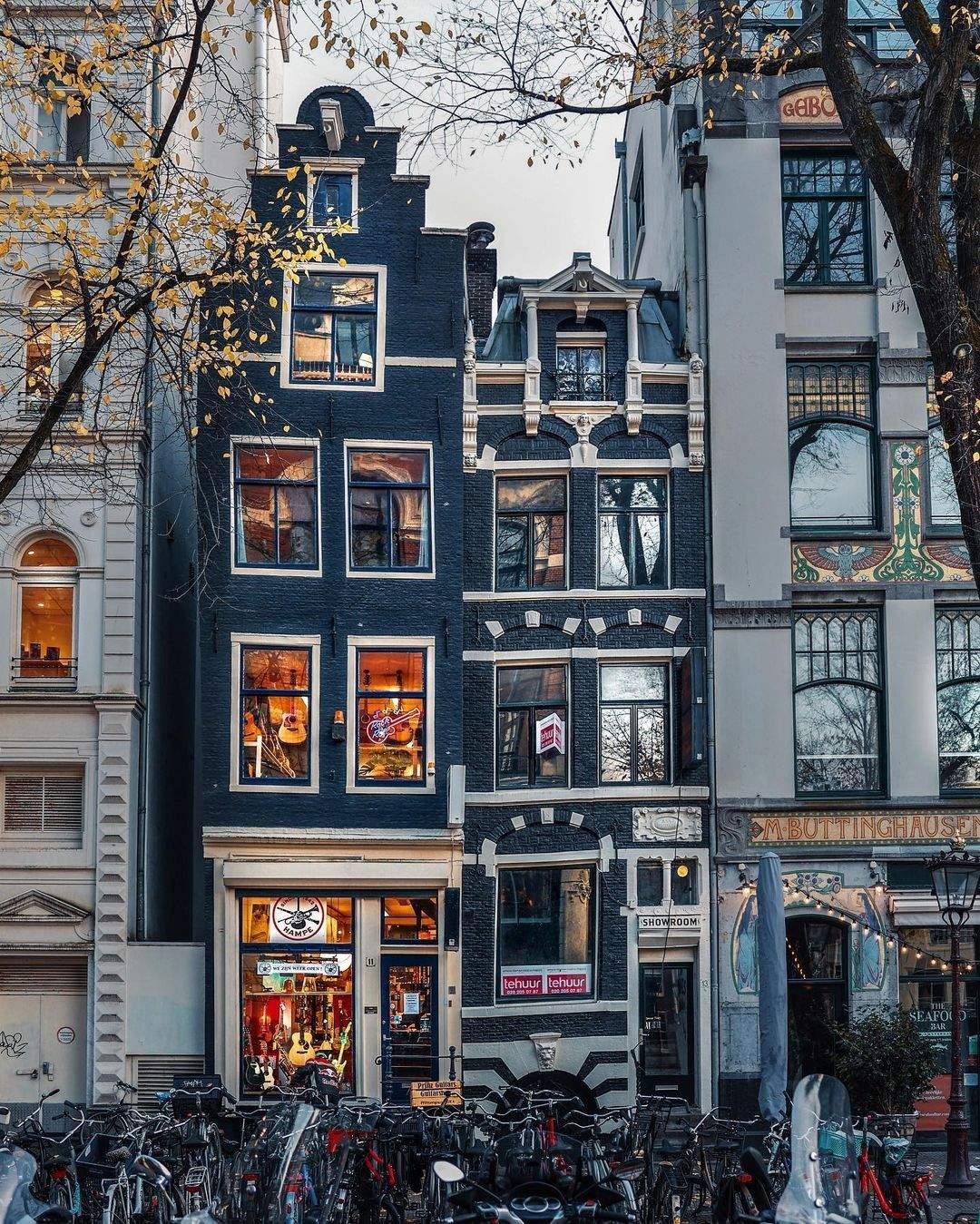 Криві нідерладські будинки  / Фото instagram Bodiek