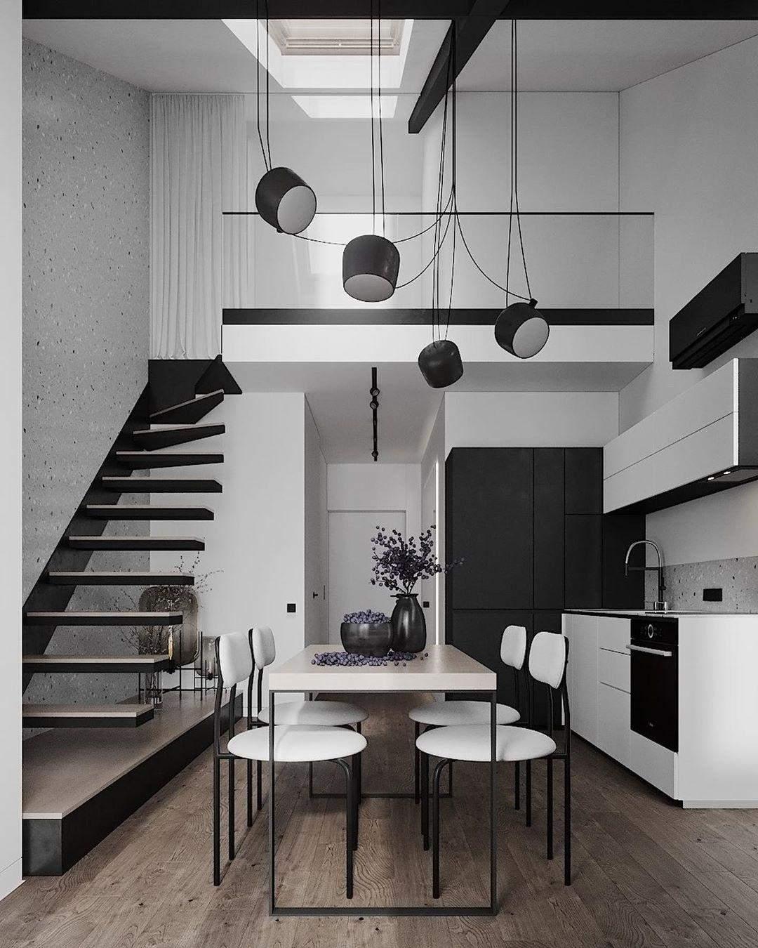 Стильний світильник на кухні