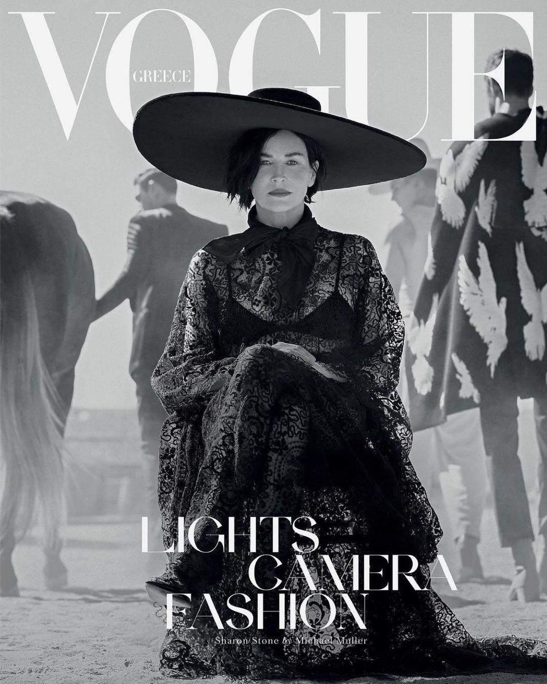 Шерон Стоун для Vogue Greece