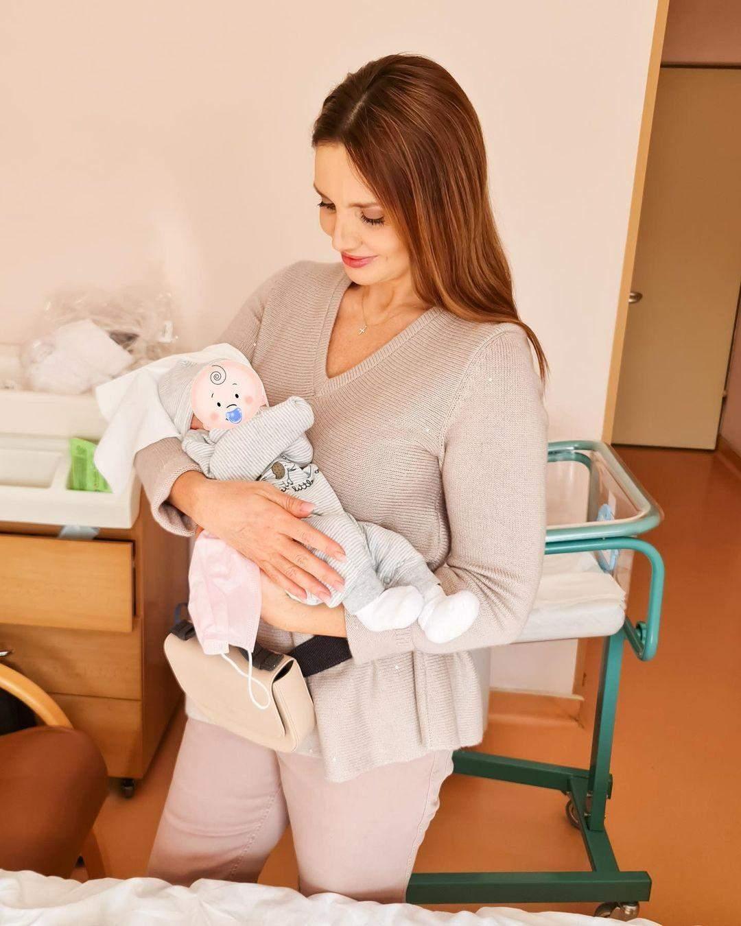 Оксана Марченко з онуком