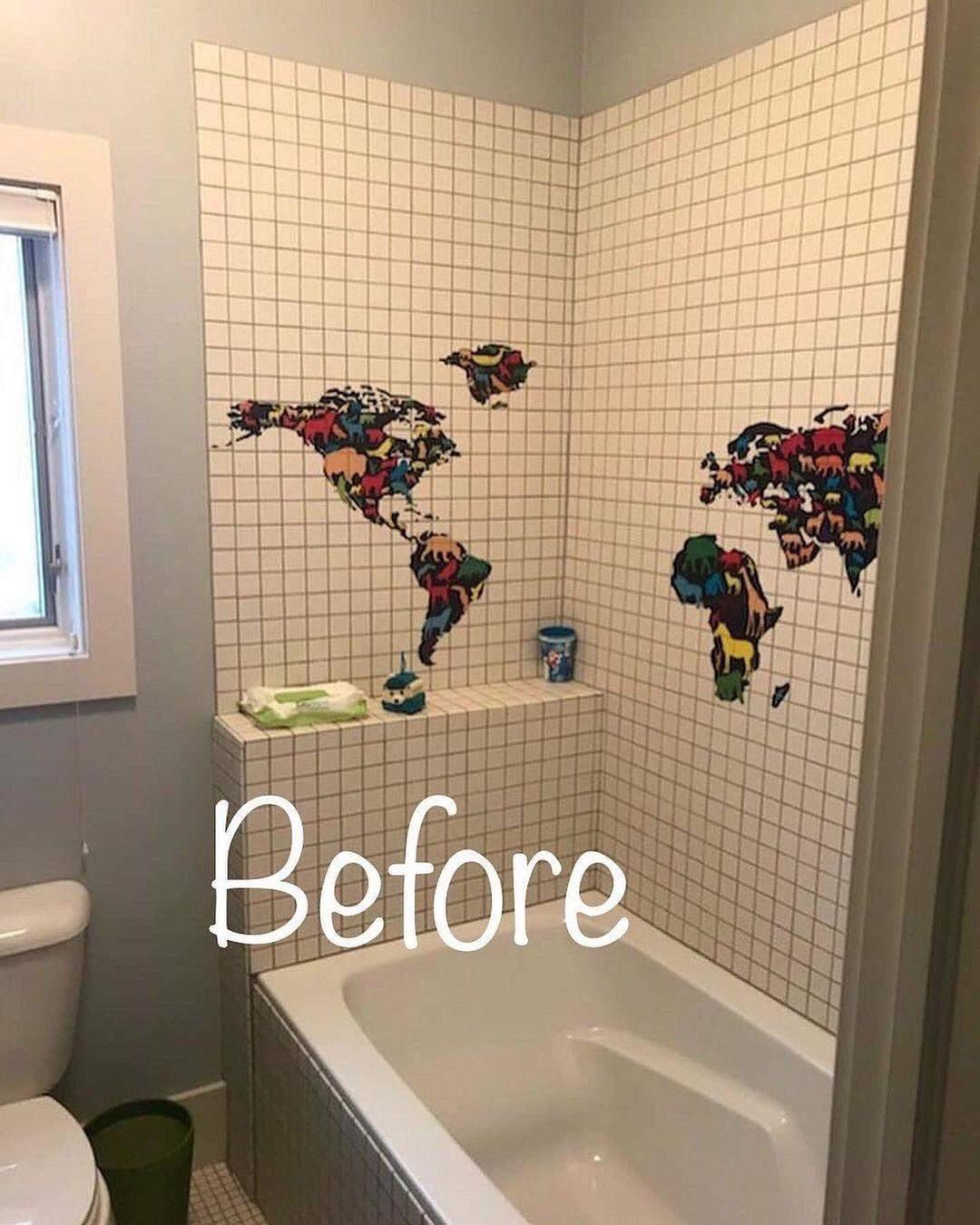 фото до та після ремонту ванної