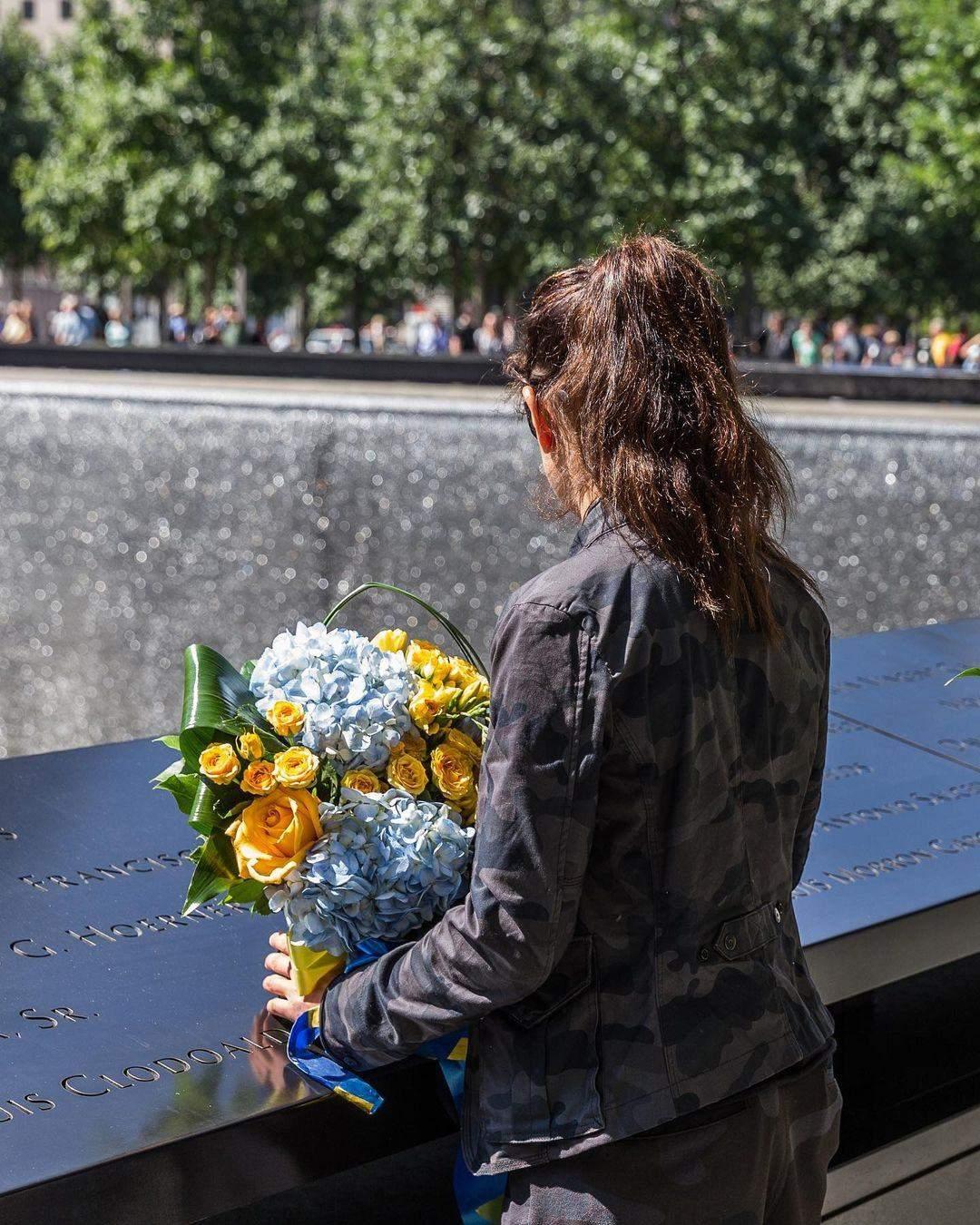 Руслана біля Національного меморіалу 11 вересня