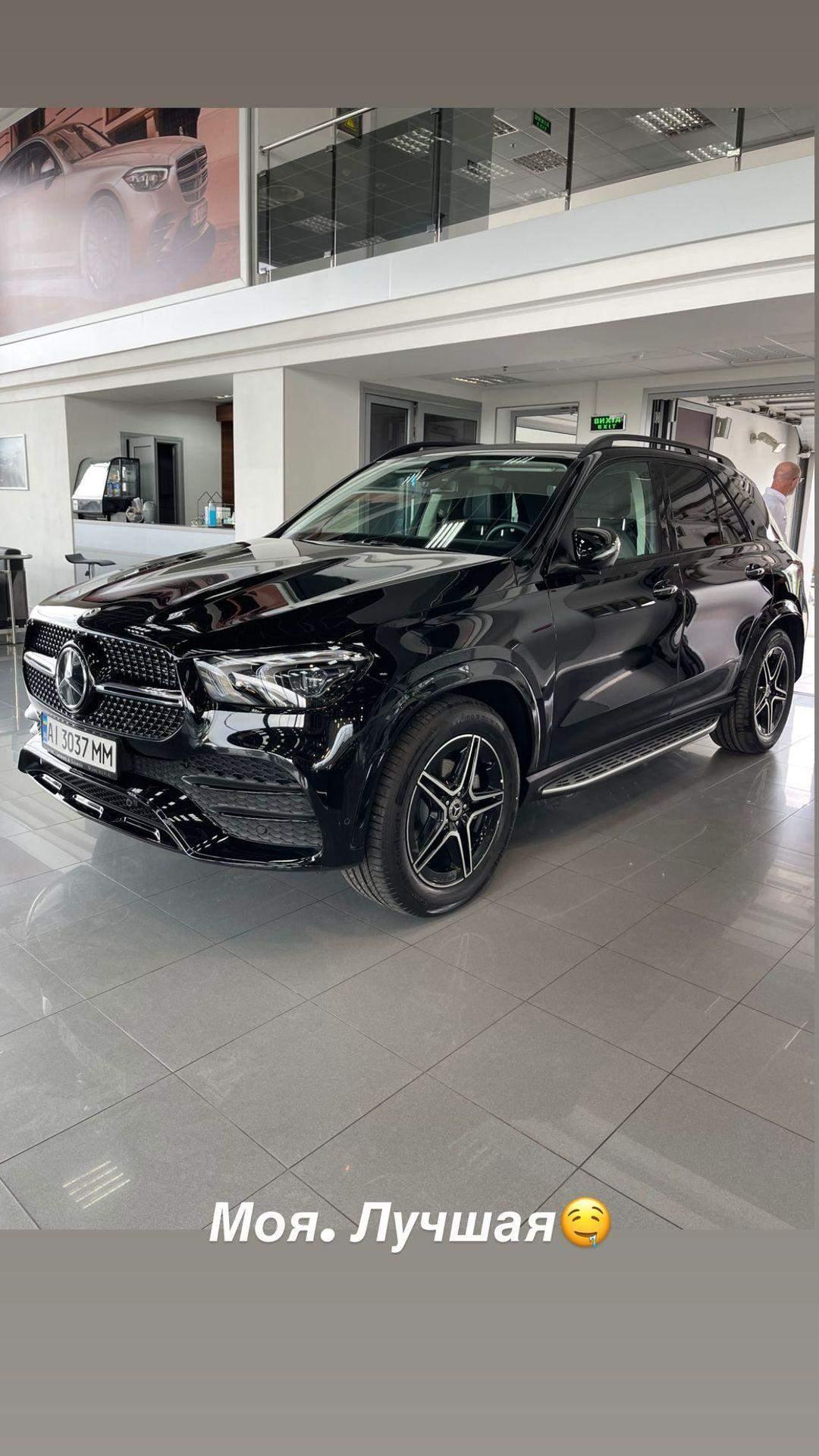 Авто Даші Квіткової за понад 2 мільйони гривень