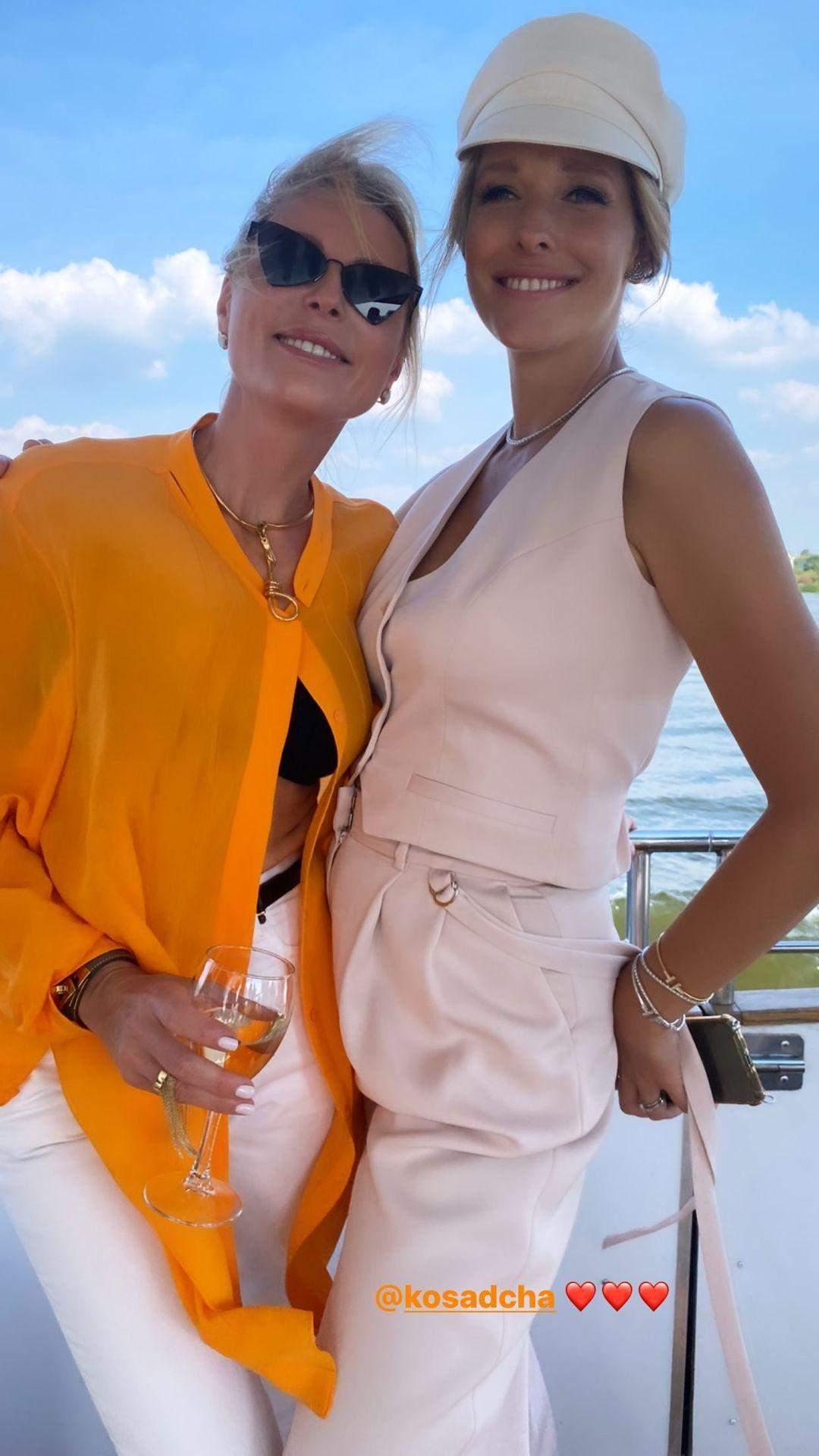 Катя Осадча на дівич-вечорі з подругами