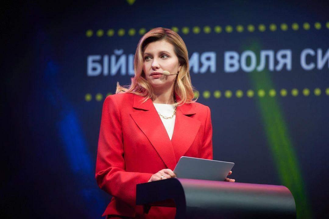 Олена Зеленська в розкішному костюмі