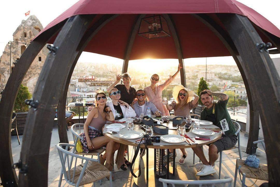 Христина Горняк в Туреччині з друзями