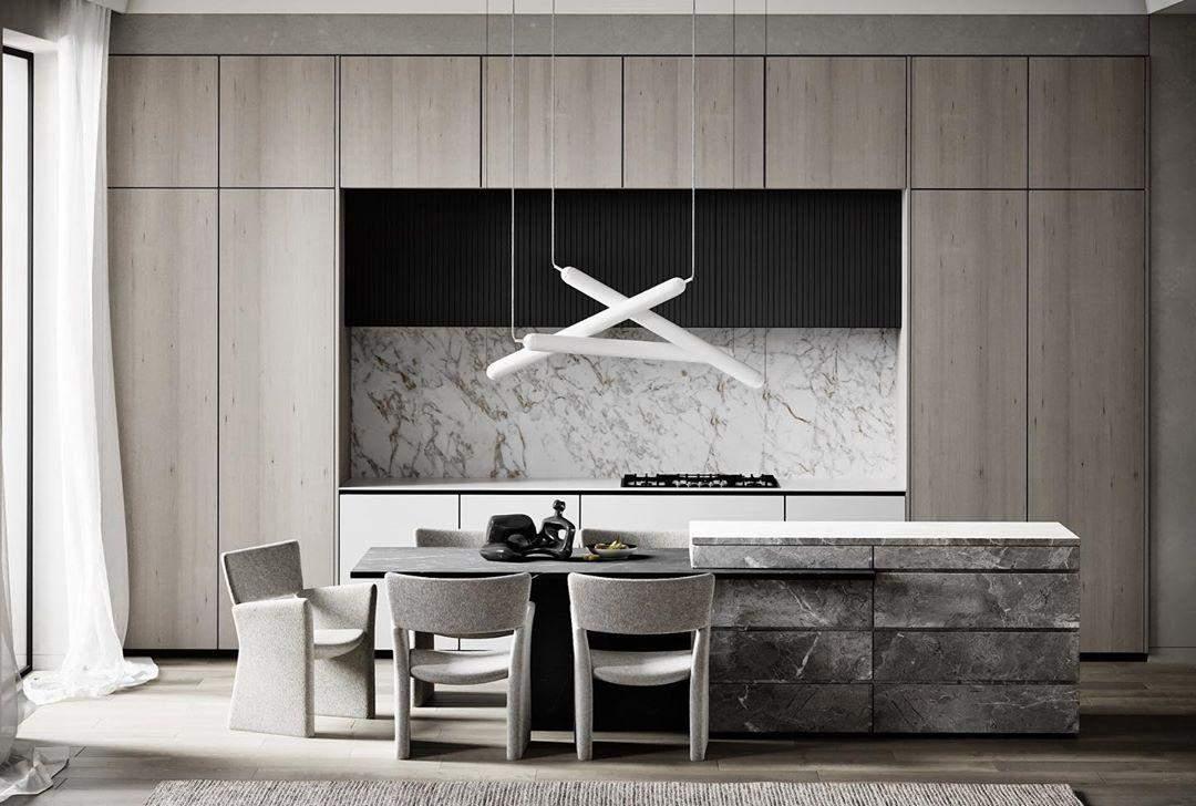 Приклад дизайну інтер'єру кухні