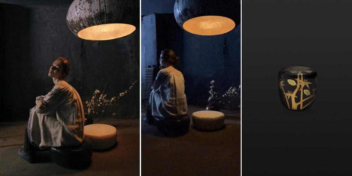 Керамічне крісло-столик Natsume stump