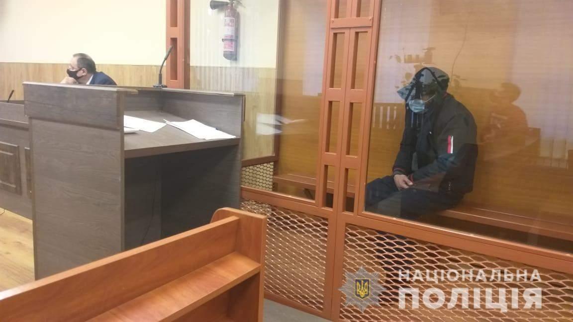 Вбивця на лаві підсудних – він визнав свою вину / Фото Нацполіції