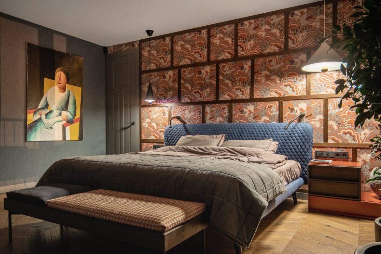 У спальні змішано кілька різних стилів та епох