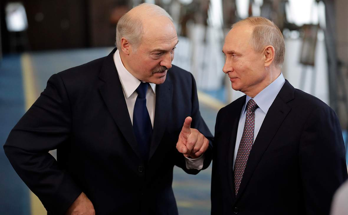 Володимир Путін та Олександр Лукашенко