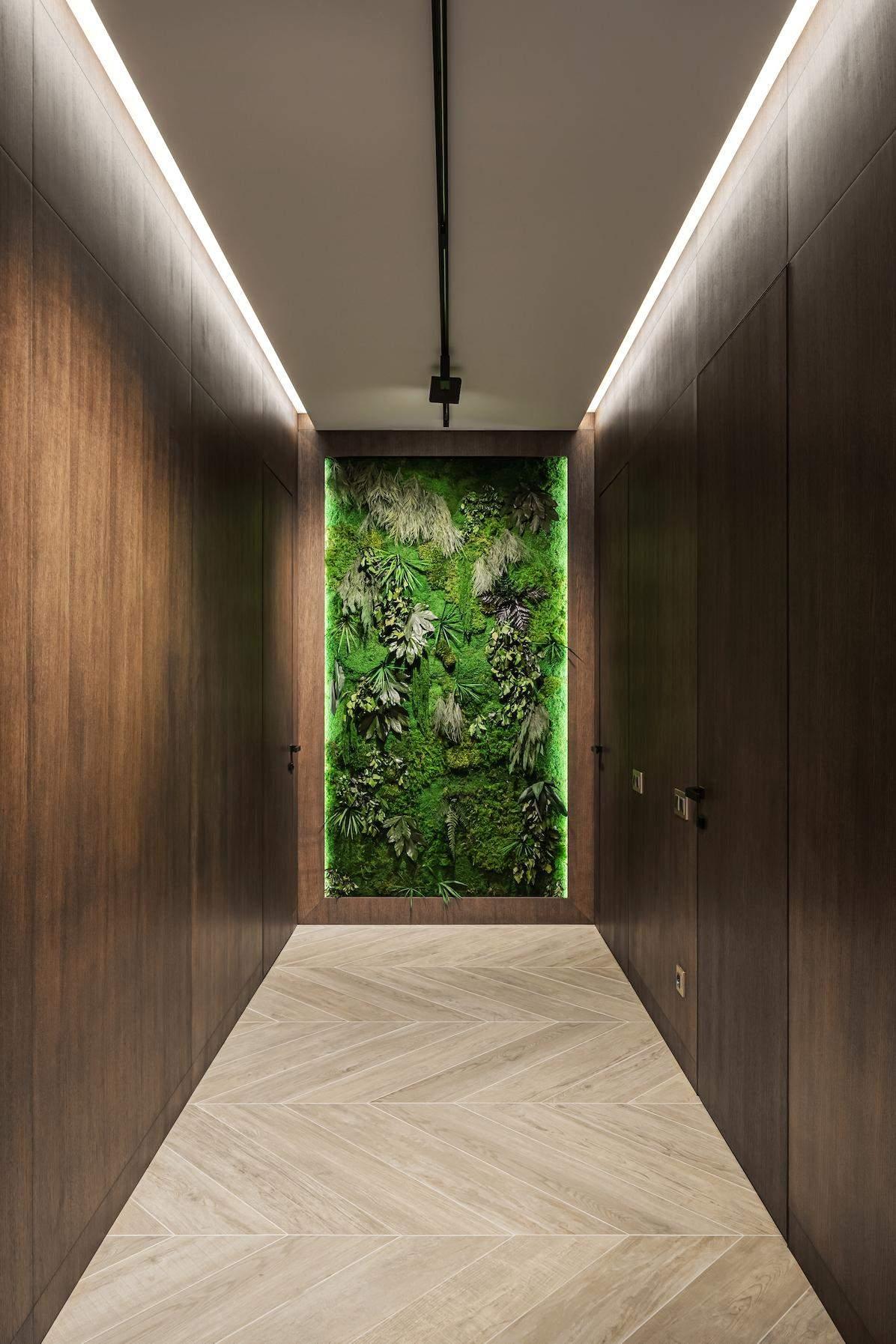 Двері прихованого монтажу виготовлені з тих же настінних панелей і практично непомітні