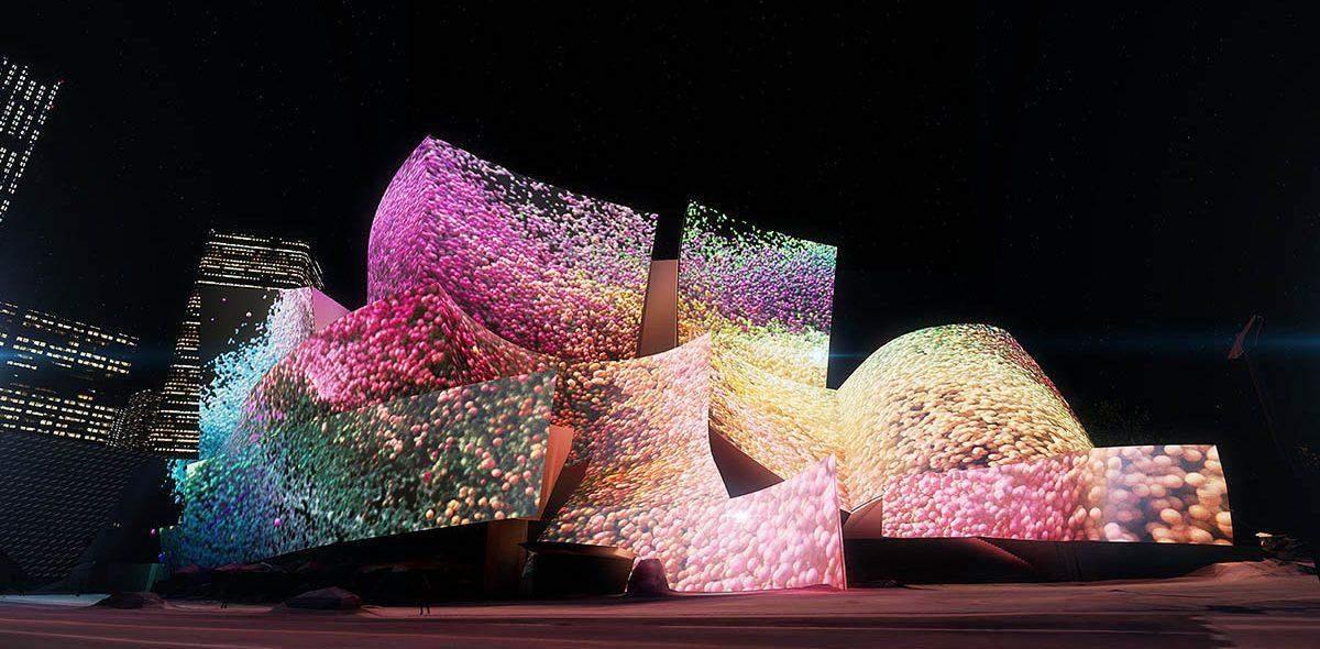 Проекции Рефика Анадола на открытии концертного сезона и праздновании 10-летия оркестра LA Phil