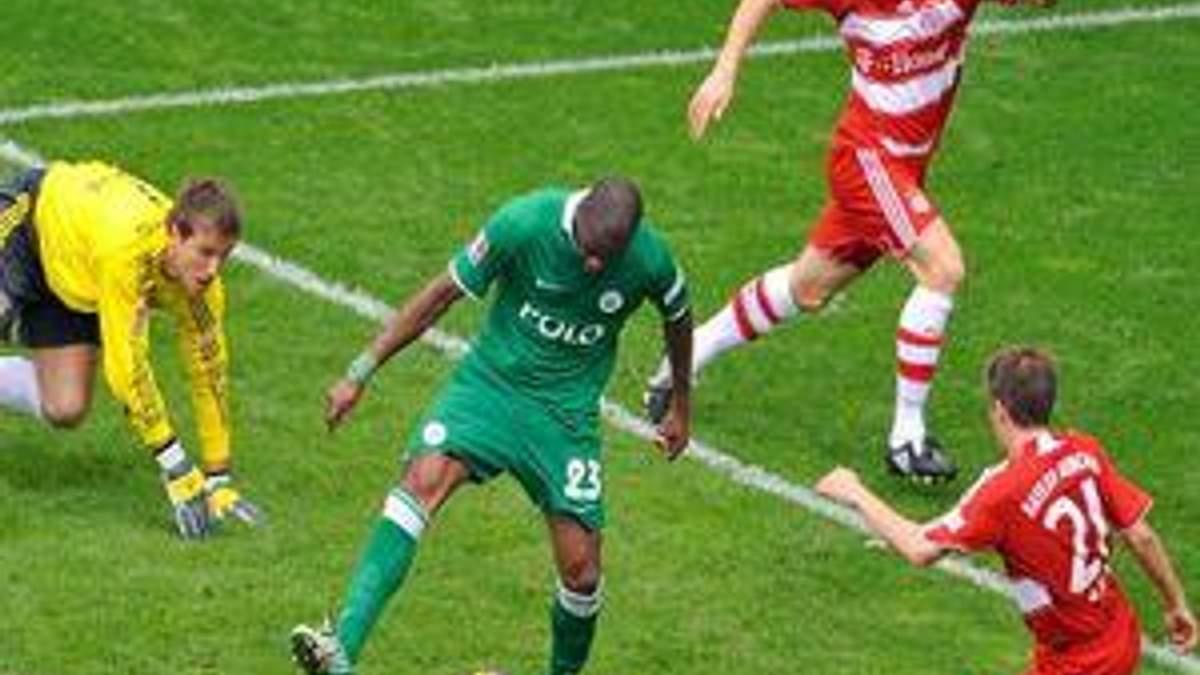 Футбол онлайн трансляция бавария вольфсбург