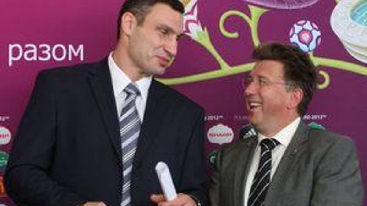 Мартін Каллен та почесний друг Євро-2012 Віталій Кличко