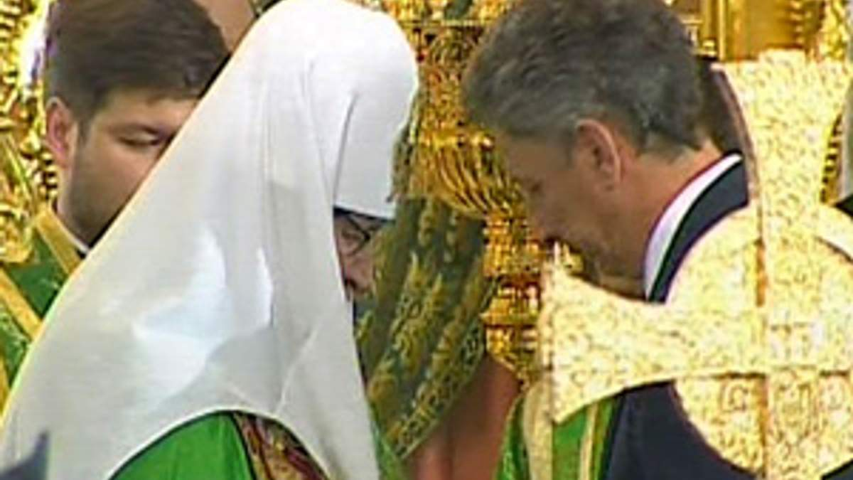Фирташ и Бойко получили церковные ордена от Патриарха