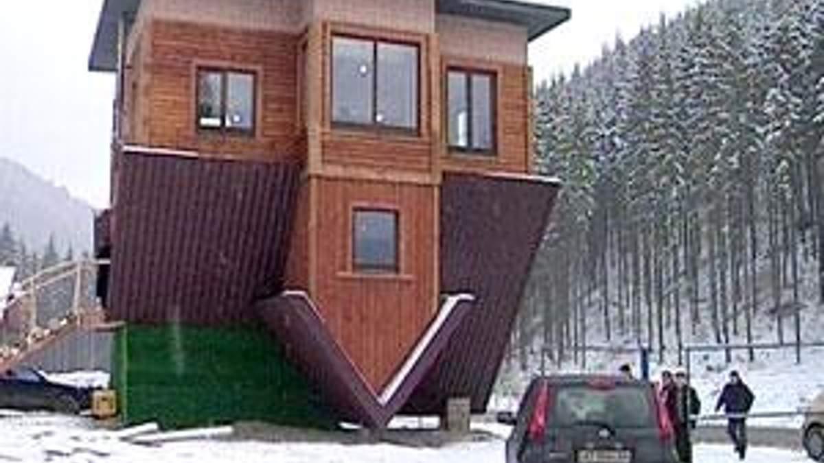 Будинок навпаки з'явився в одному із сіл Прикарпаття