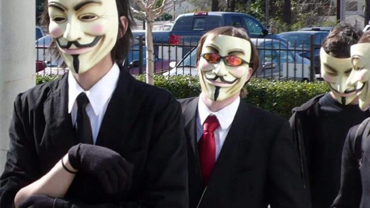 Українські Anonymous погрожують владі атаками з усього світу