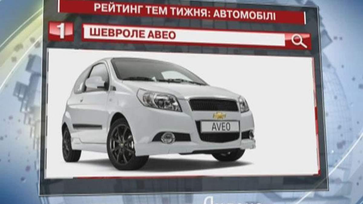 """Chevrolet Aveo - лидер топ-запросов в категории """"Автомобили"""" - 30 июля 2012 - Телеканал новин 24"""