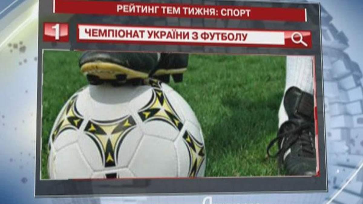 Чемпионат Украины по футболу - самый популярный запрос спортивной тематики