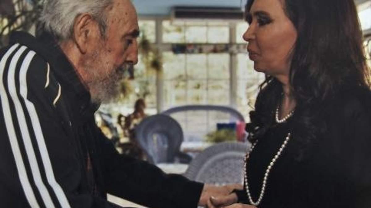 Фидель Кастро встретил президента Аргентины в спортивном костюме (Фото)