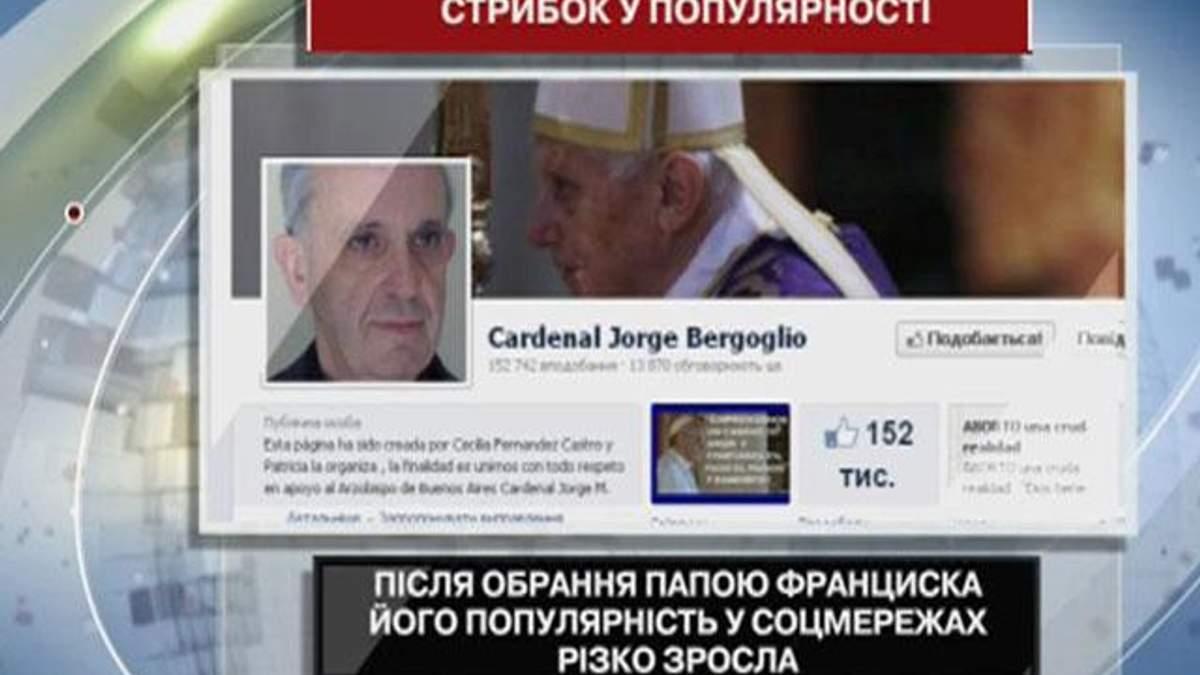 Після обрання папою Франциска його популярність у соцмережах різко зросла
