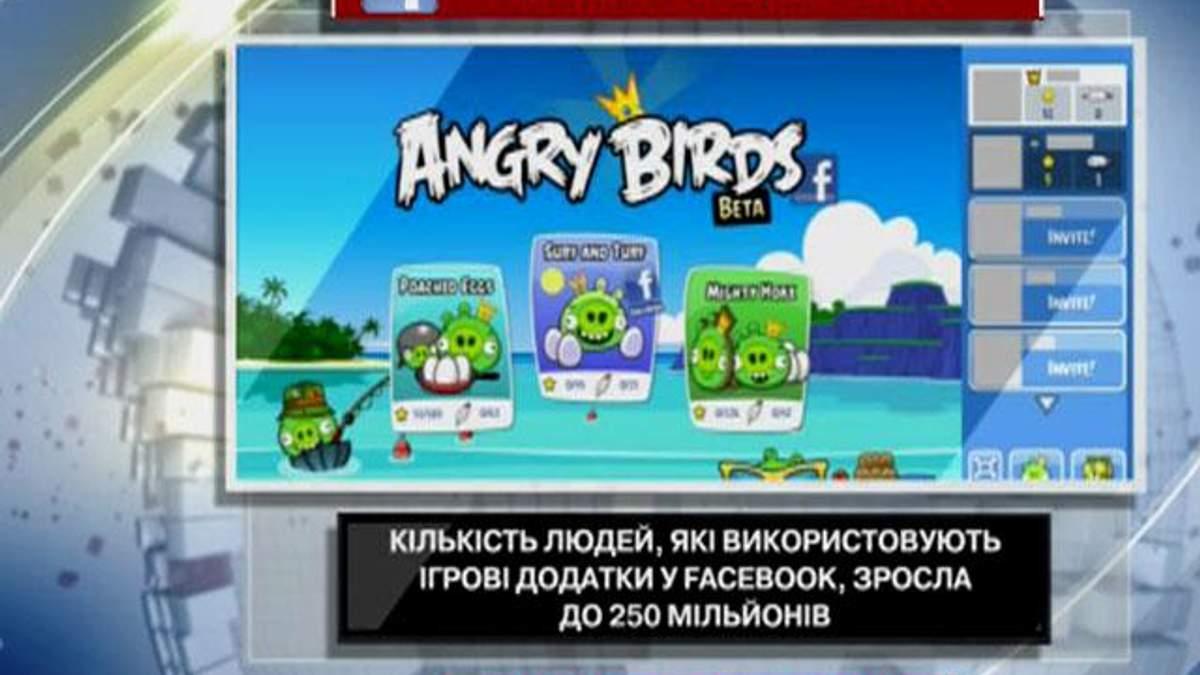 Каждый пятый пользователь Facebook пользуется игровыми приложениями