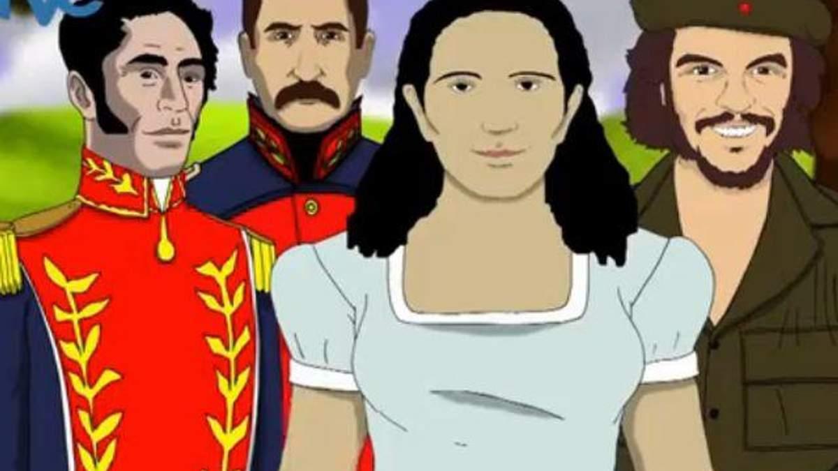 Венесуэльское телевидение транслирует мультик о Чавесе на небе (Видео)