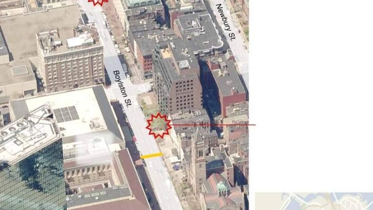 Карта вибуху у Бостоні (Фото)