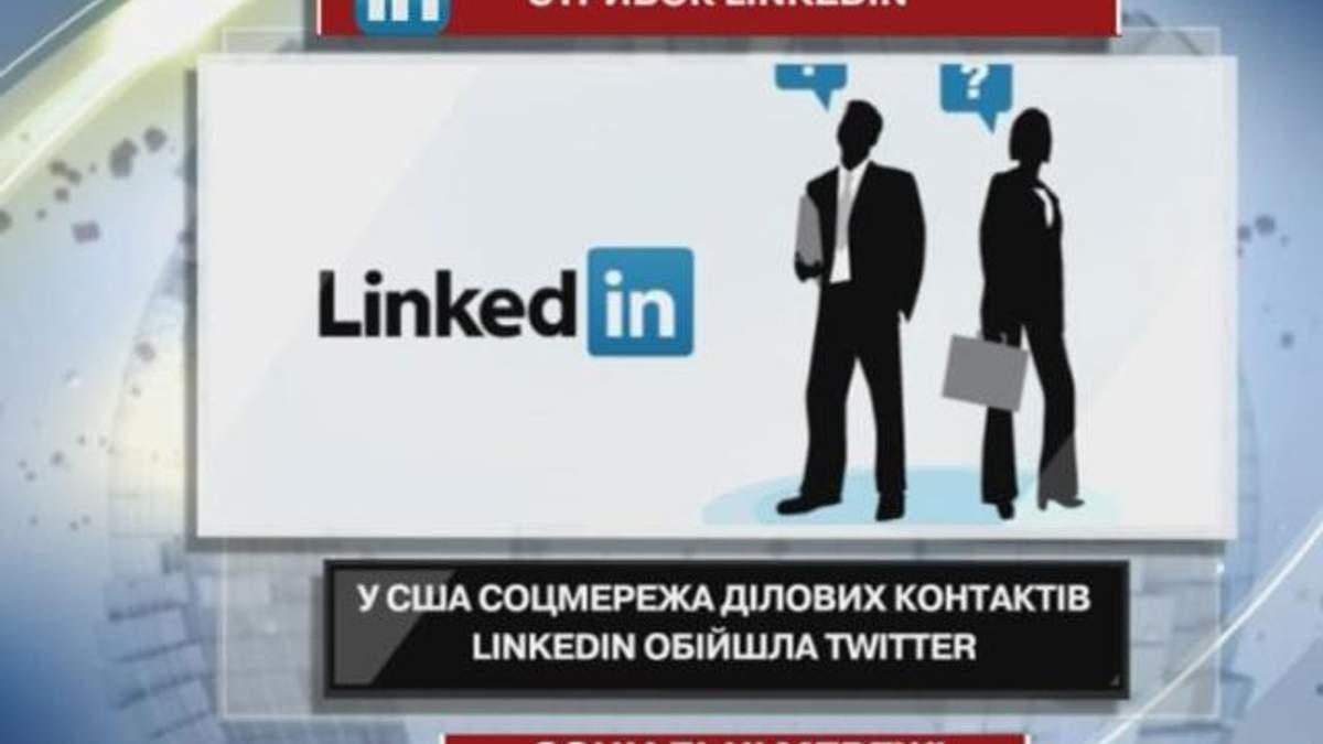 У США соцмережа ділових контактів LinkedIn обійшла Twitter