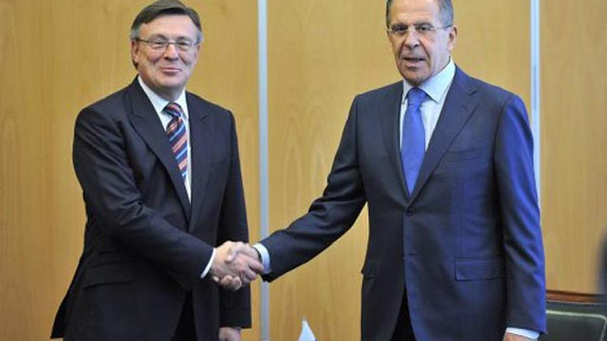 Леонид Кожара и Сергей Лавров